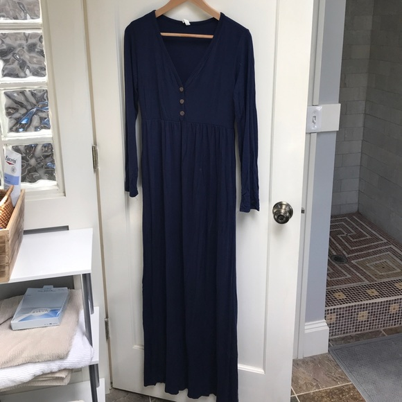 Pinkblush Dresses & Skirts - PinkBlush Maternity dress, long sleeve, navy blue